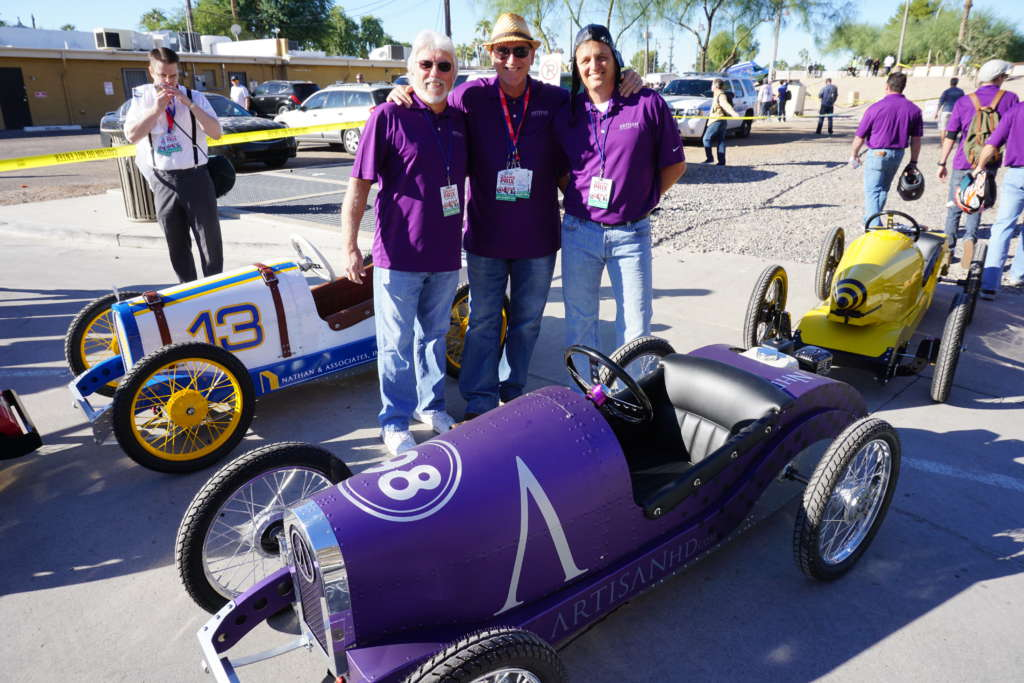 Grand Prix of Scottsdale 2015 race car with ArtisanHD owners