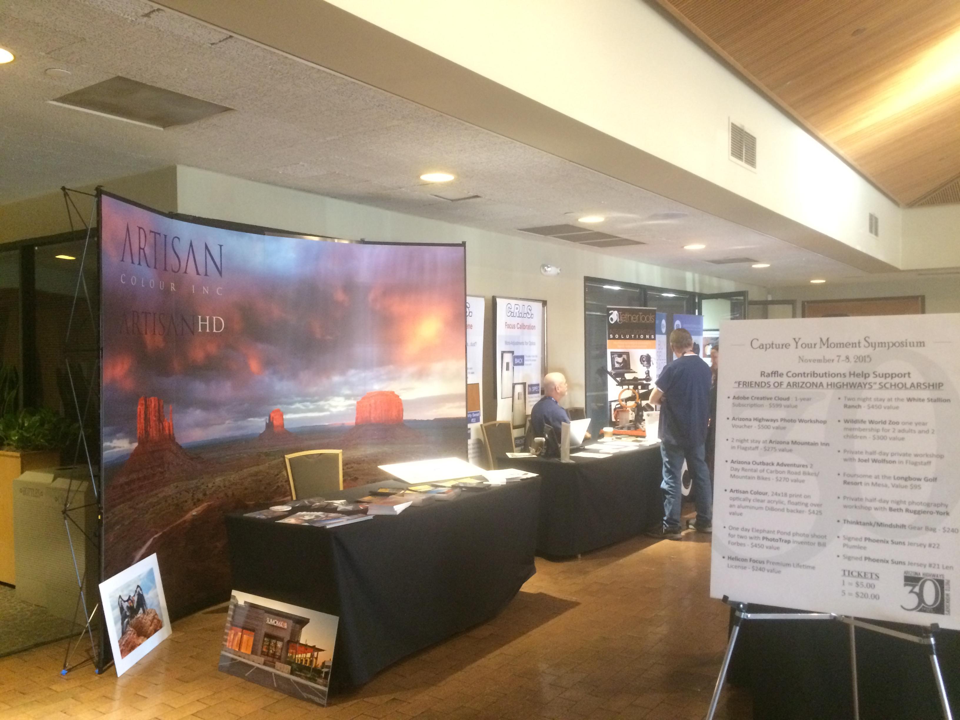 ArtisanHD Table at Arizona Highways Photo Symposium
