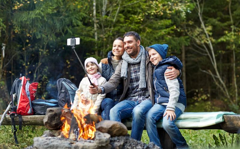 Family taking family images of time together