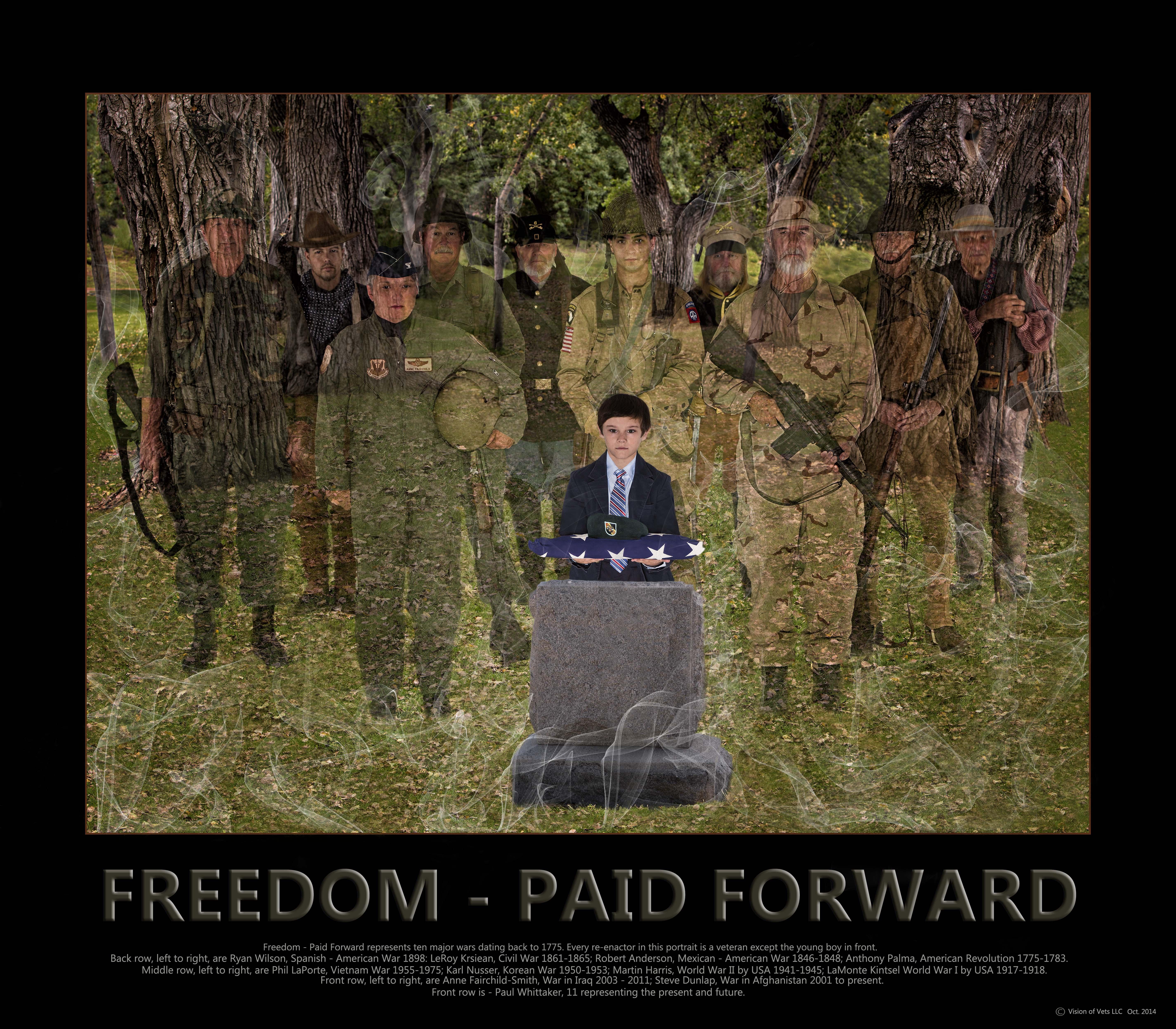 archival photo print Fuji Luster honoring veterans