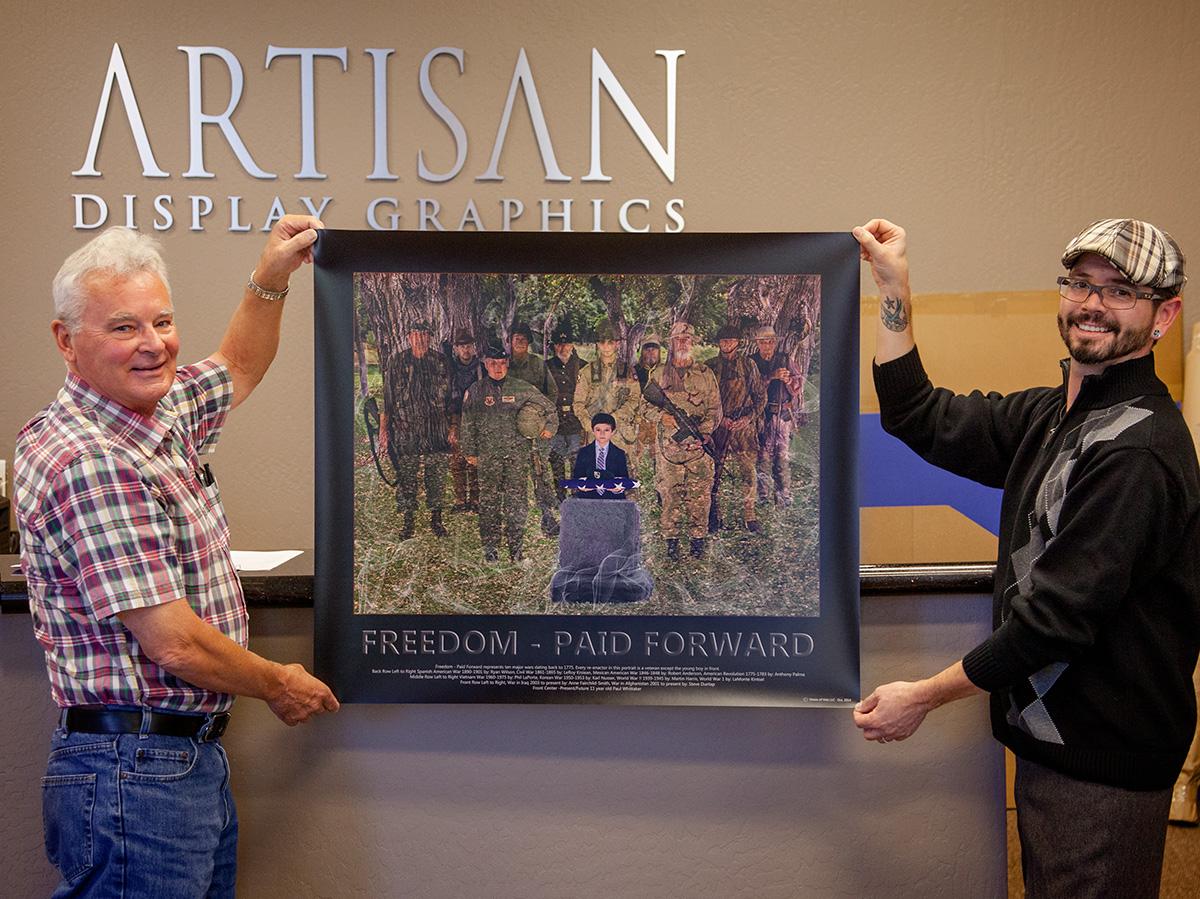 Fuji Luster Photo Print Honoring Veterans
