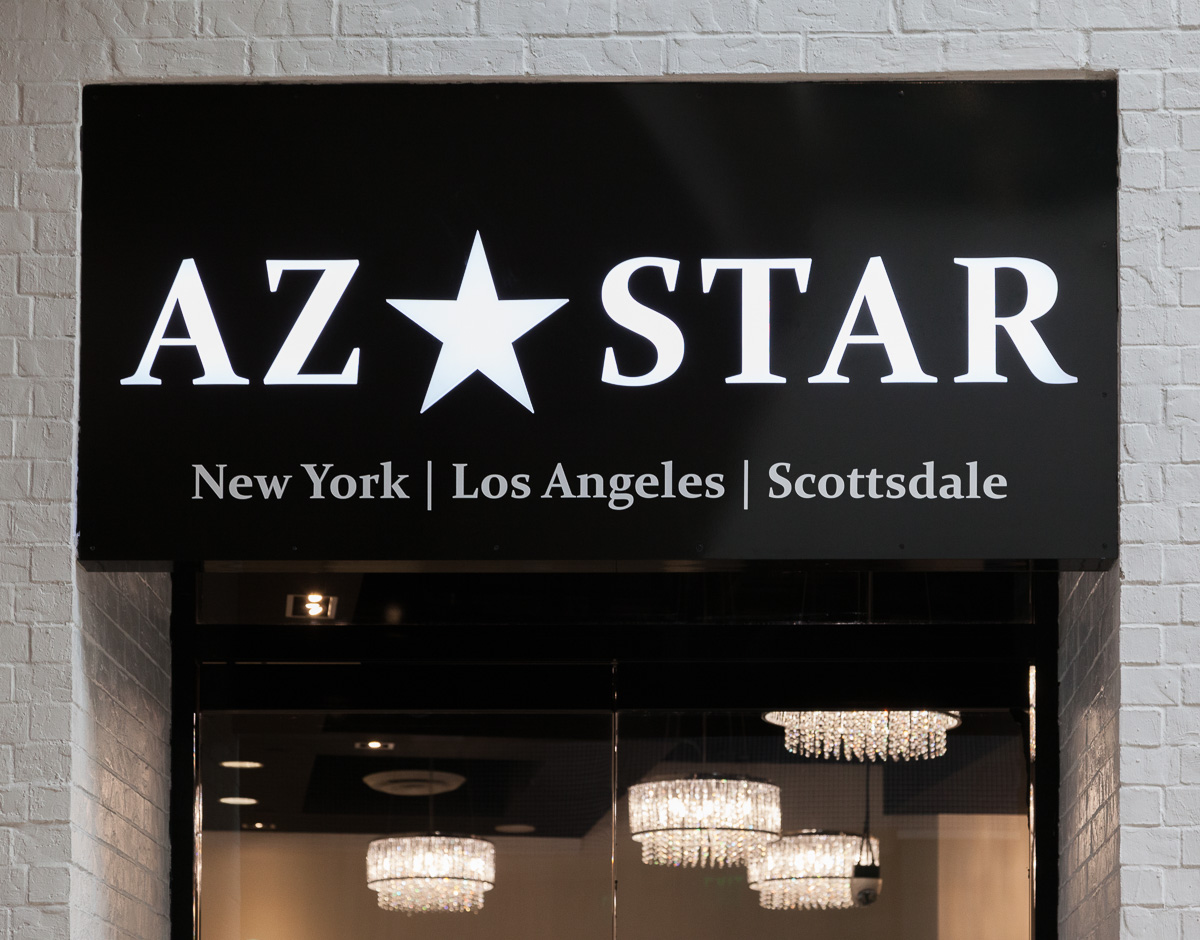 more than just professional color printing, it's a custom sign for AZ STAR