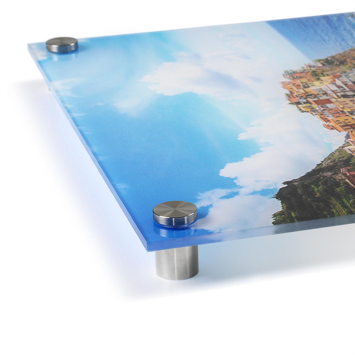Corner Standoff Salon Mounting of ArtisanHD Direct to Acrylic Prints