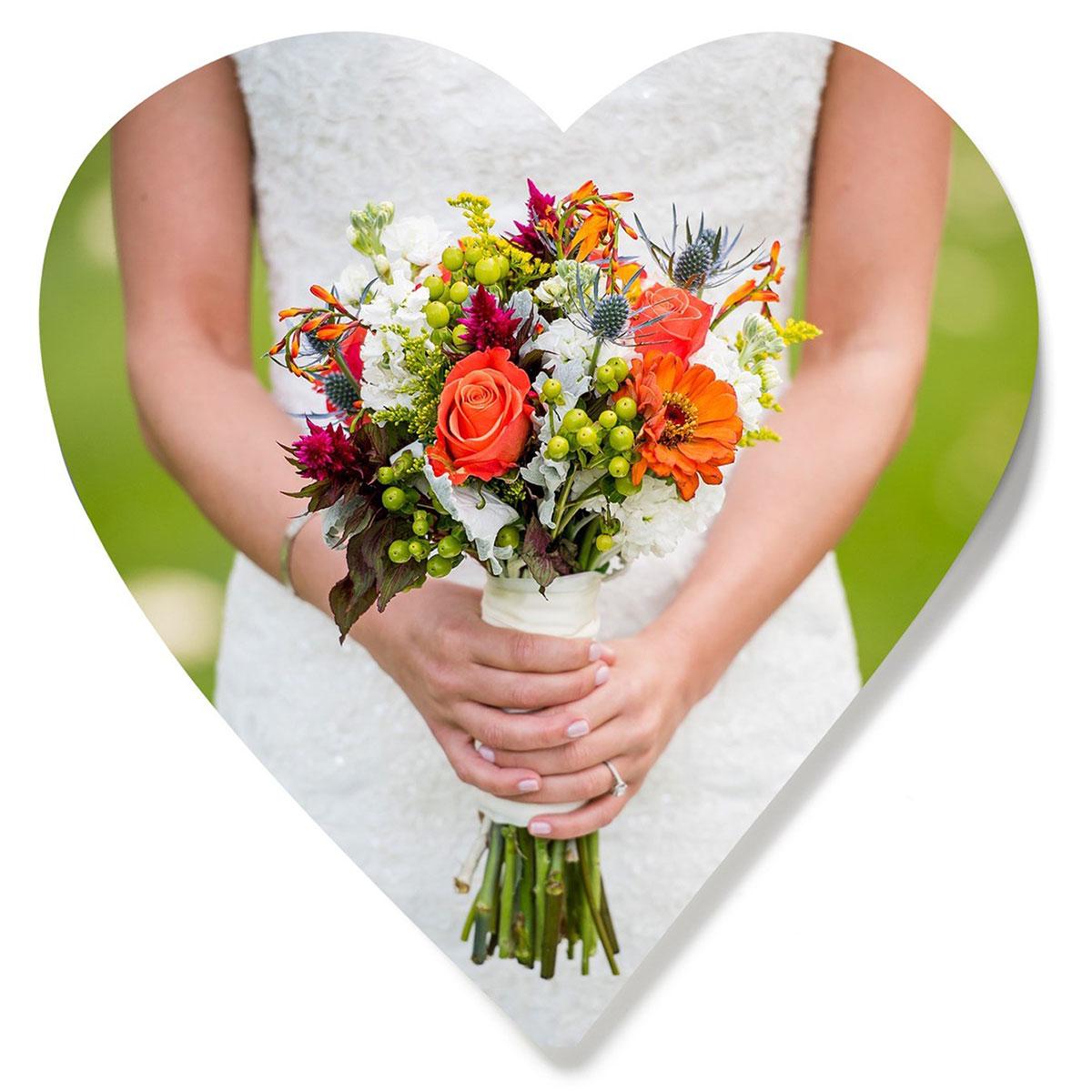 ArtisanHD Custom Cut Out Shapes Heart Photo Wedding Bouquet