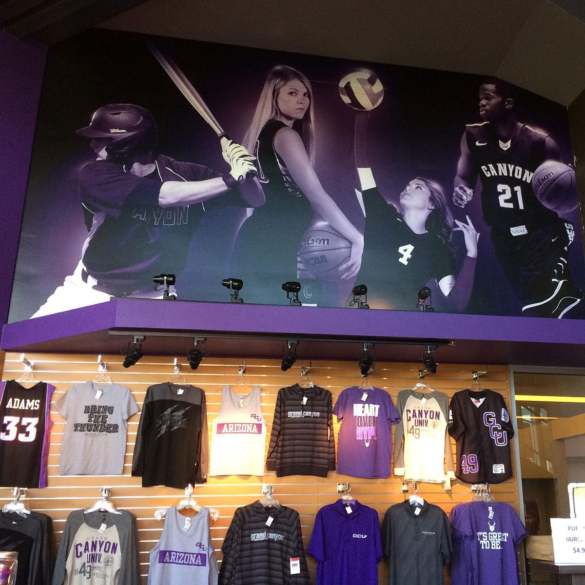 Retail Wall Wraps Grand Canyon University Arena Team Shop