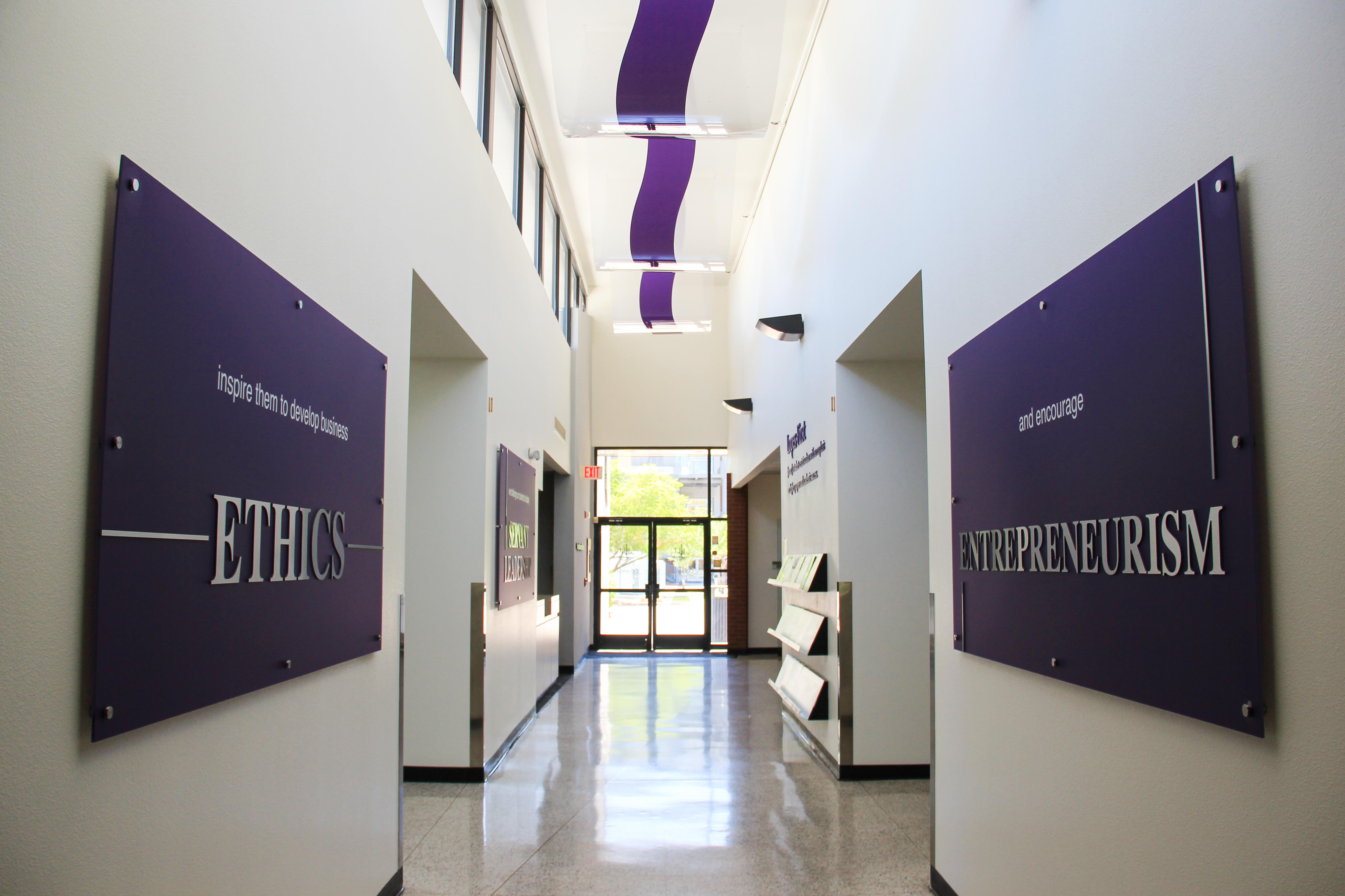 environmental graphics hallway