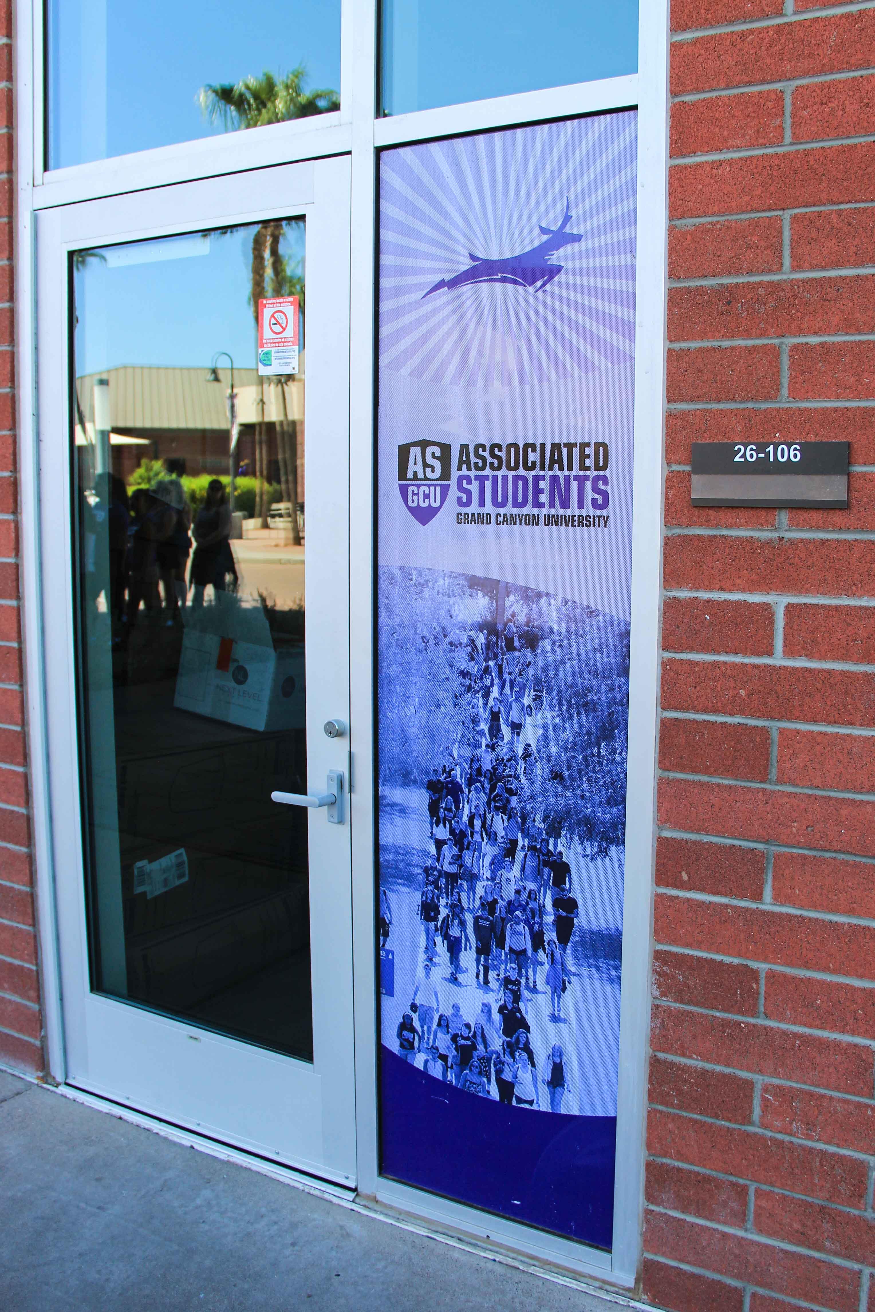 Window environmental graphics at GCU