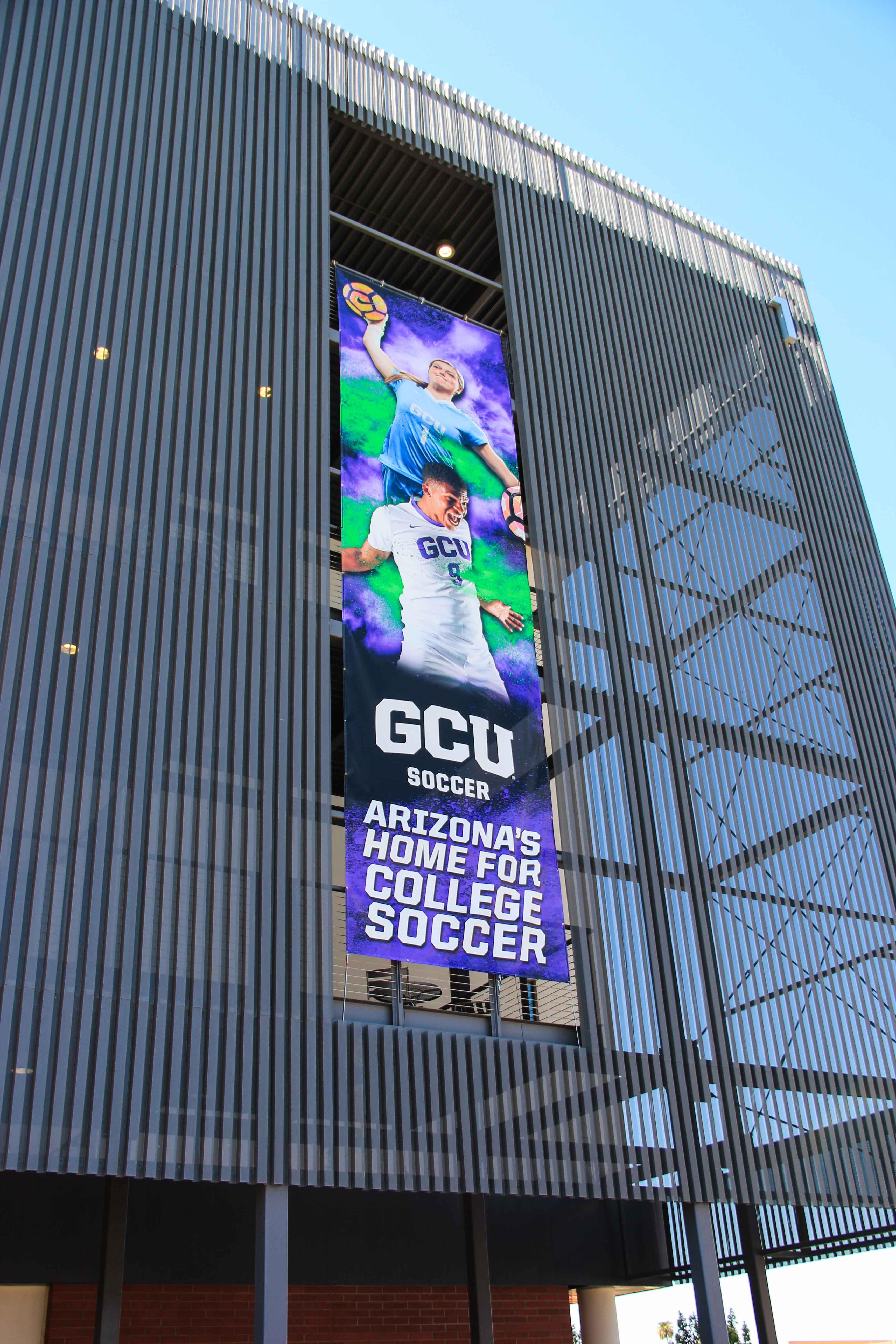 Environmental Graphics for GCU exterior banner