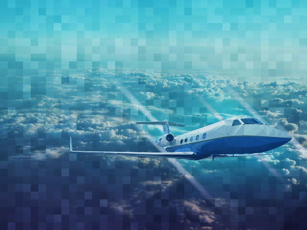 high resolution printing pixel airplane
