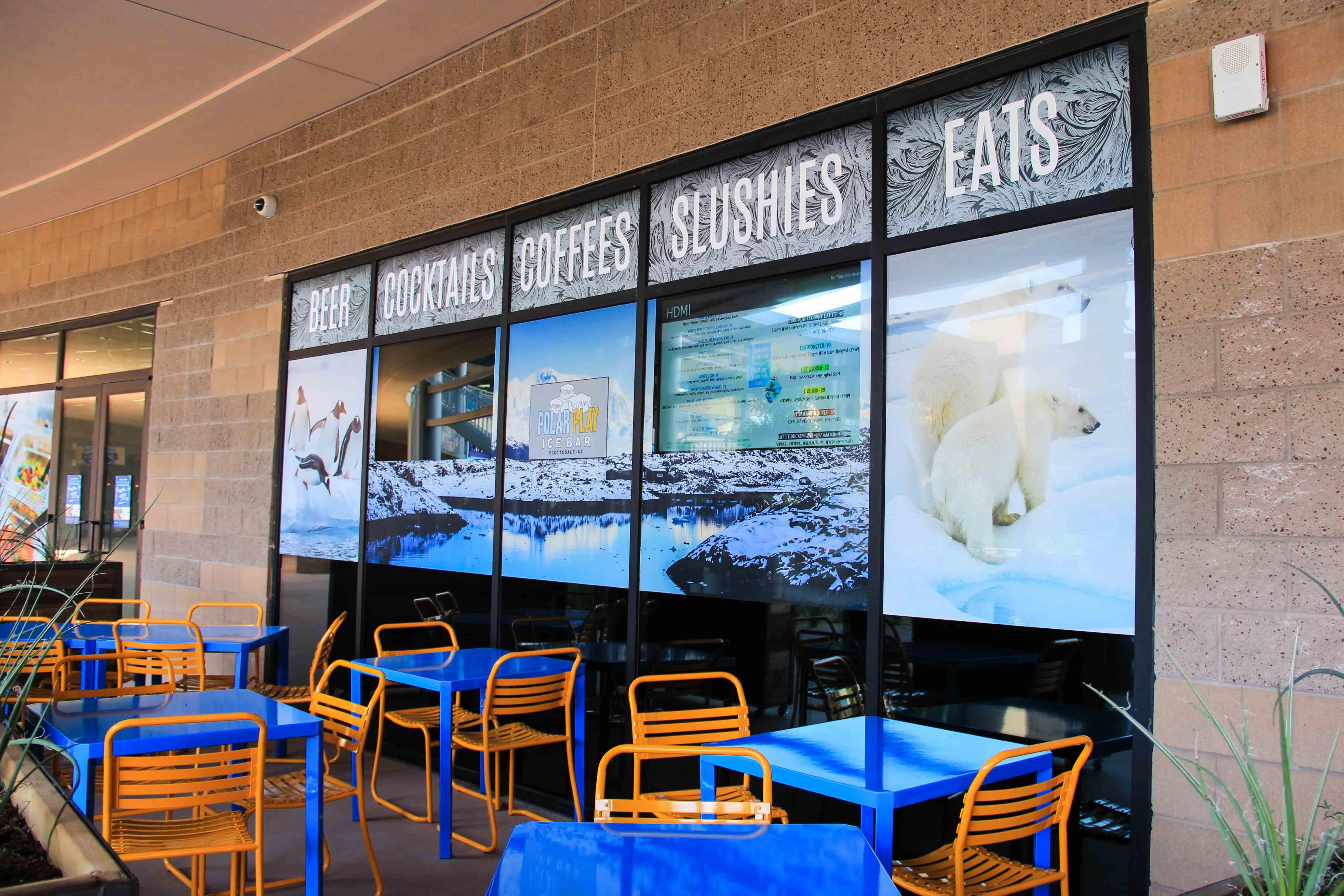 Polar Play Ice Bar custom event signage