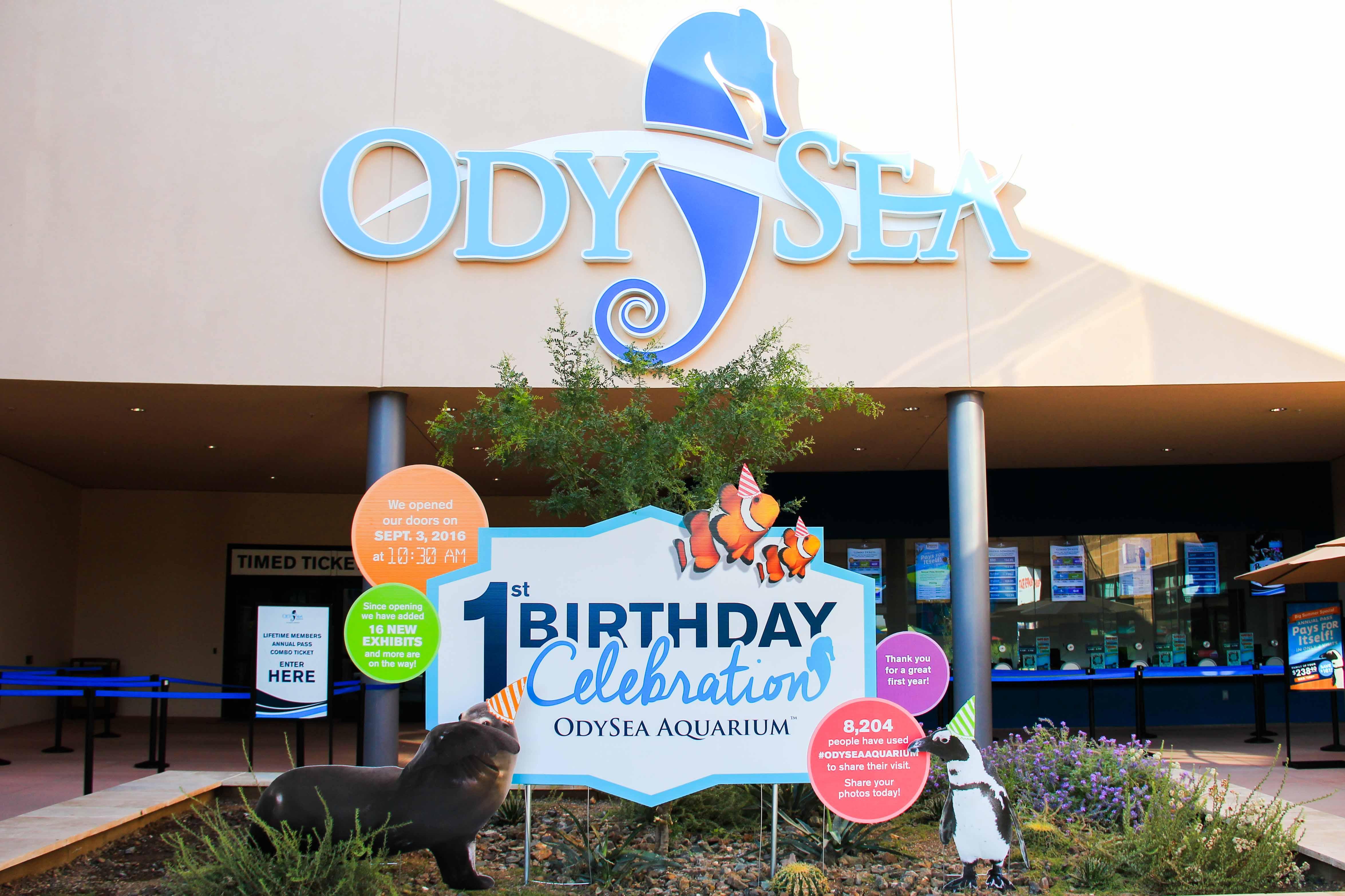 OdySea Birthday custom event signage