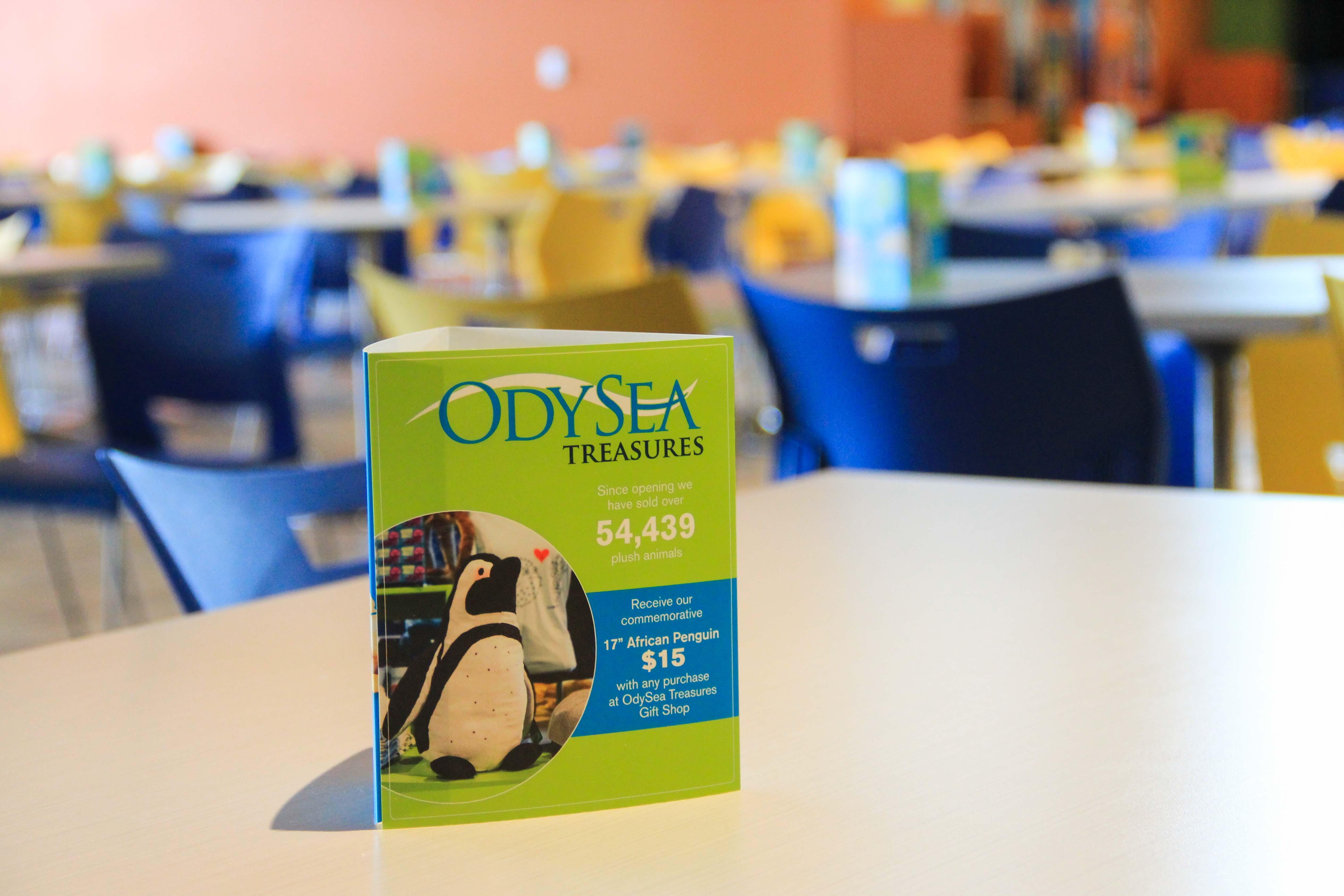 OdySea Trifold custom event signage