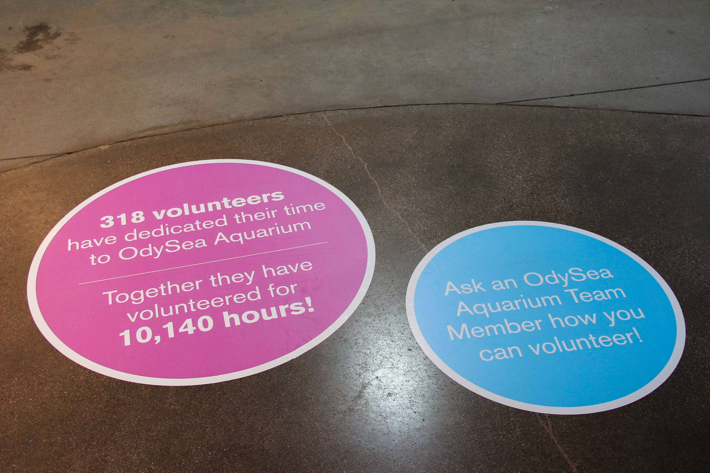 OdySea Floor Sign custom event signage