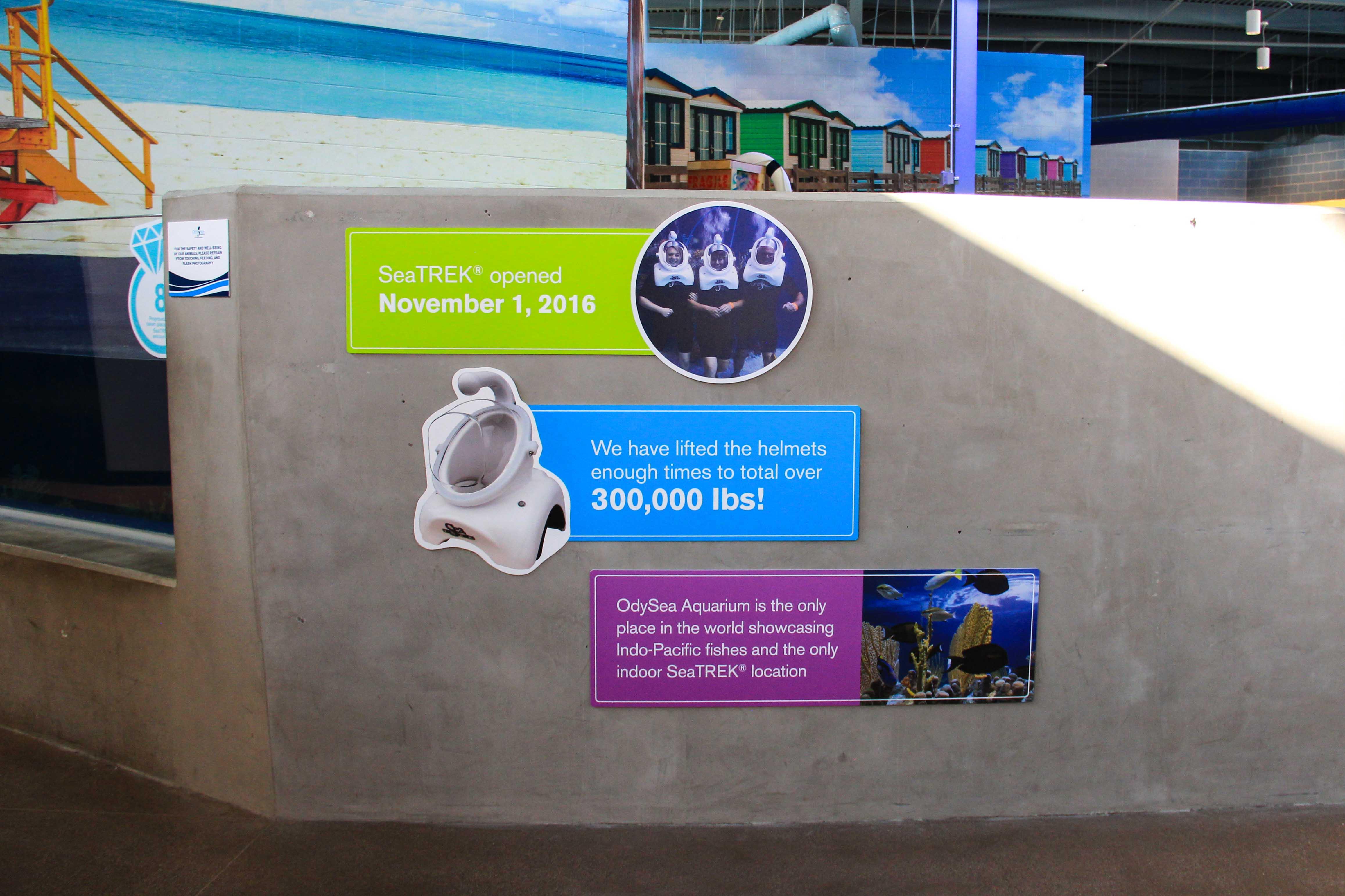 OdySea Wall Sign custom event signage