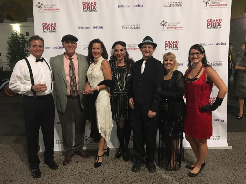 Dressed up for the Gatsby Gala at the 2017 Grand Prix of Scottsdale