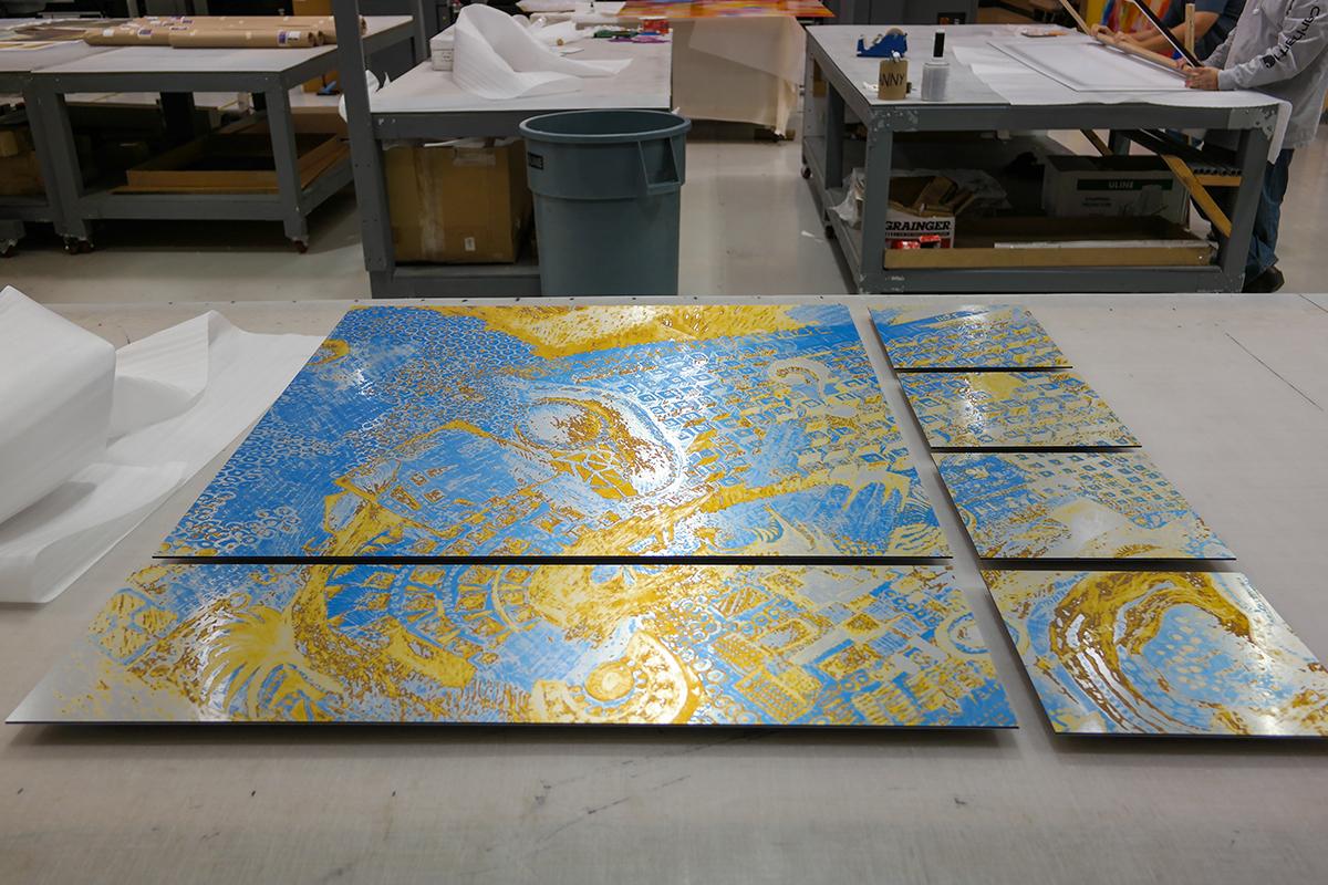 Yellow Wall Art Gallery Split
