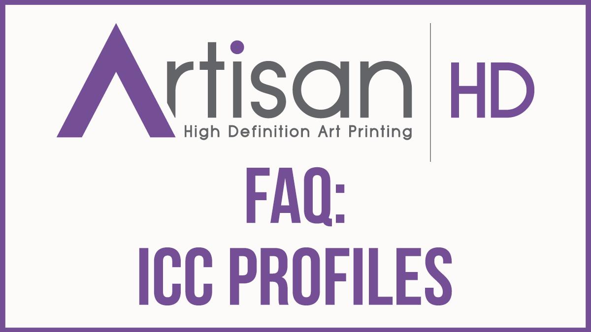 Artisan FAQ icc profiles