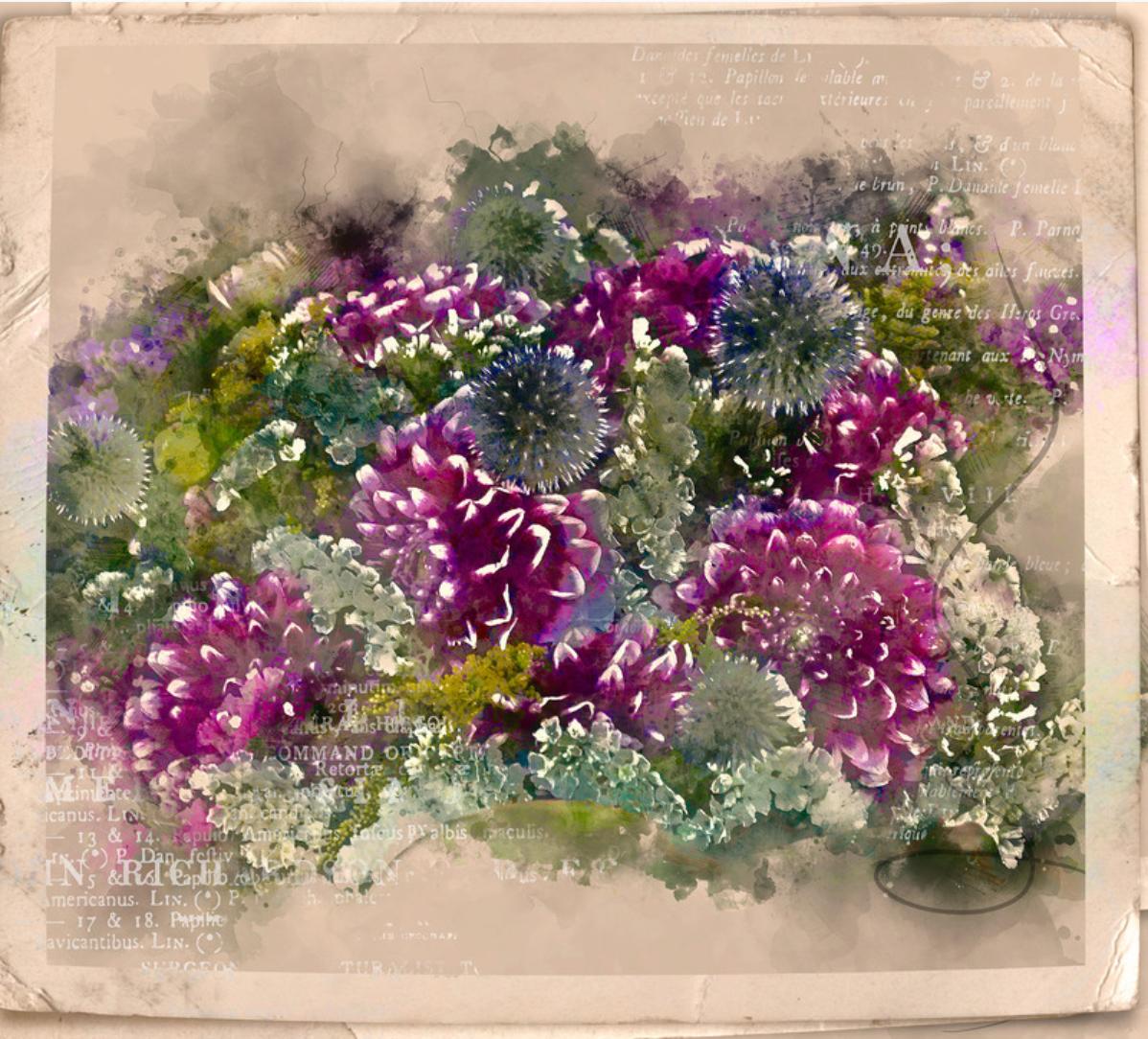 custom print decor purple flowers arboja