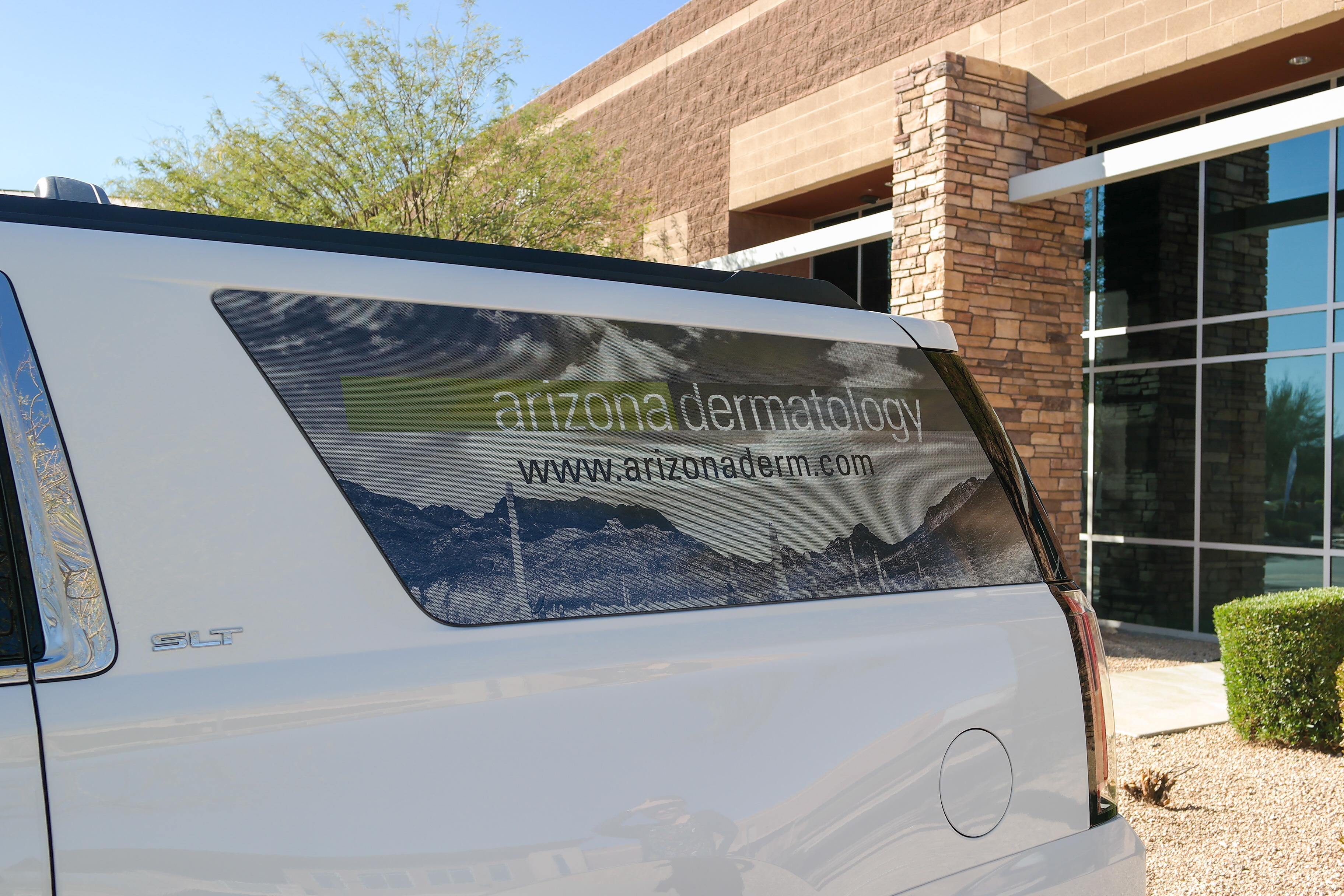 Arizona Dermatology Vehicle Window Wrap