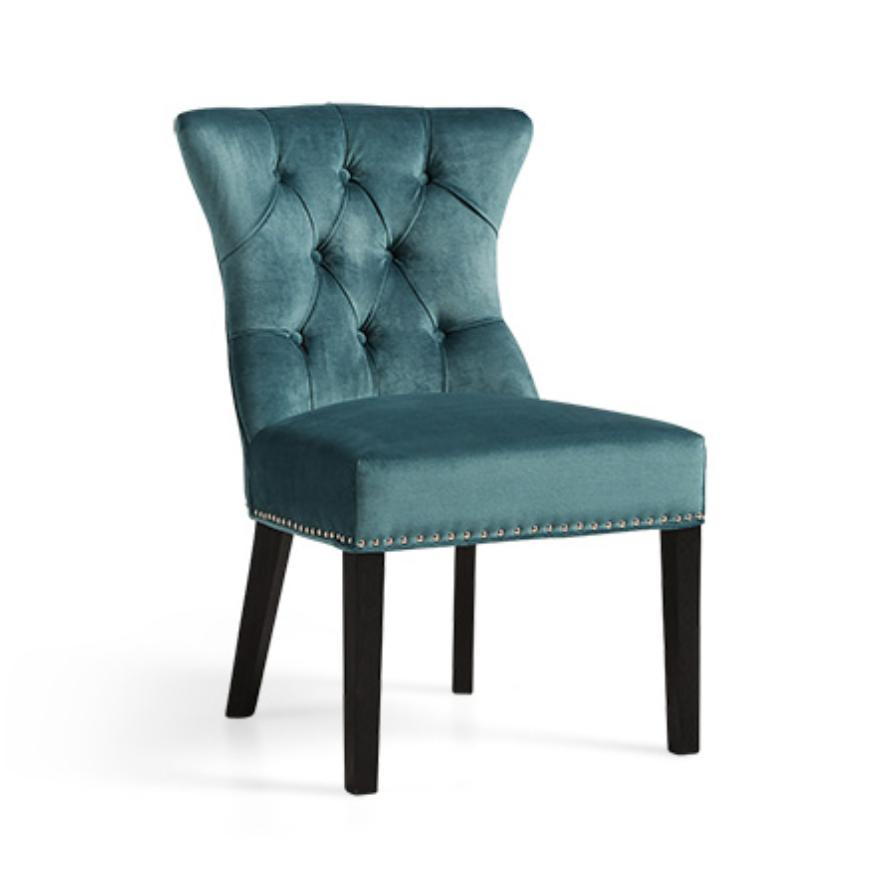 custom print decor blue chair