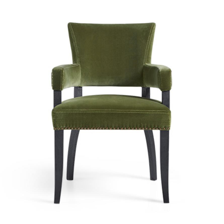 custom print decor green chair