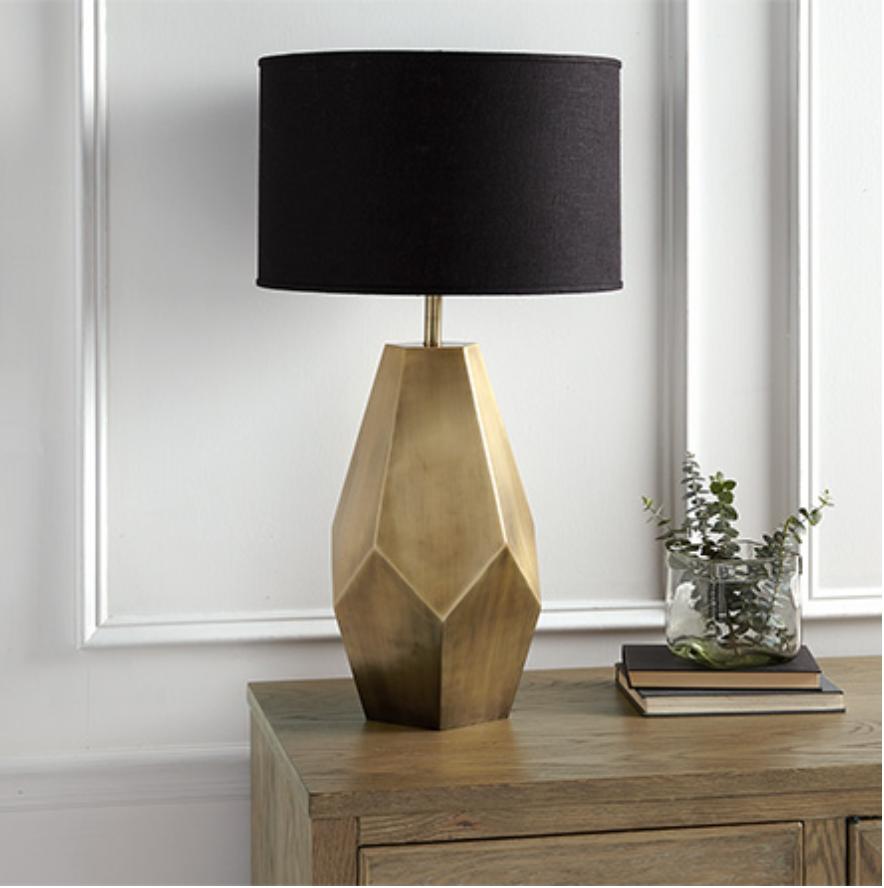 custom print decor gold lamp