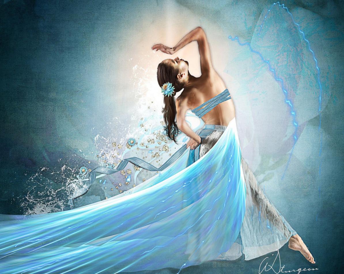 custom print decor blue dancer artboja