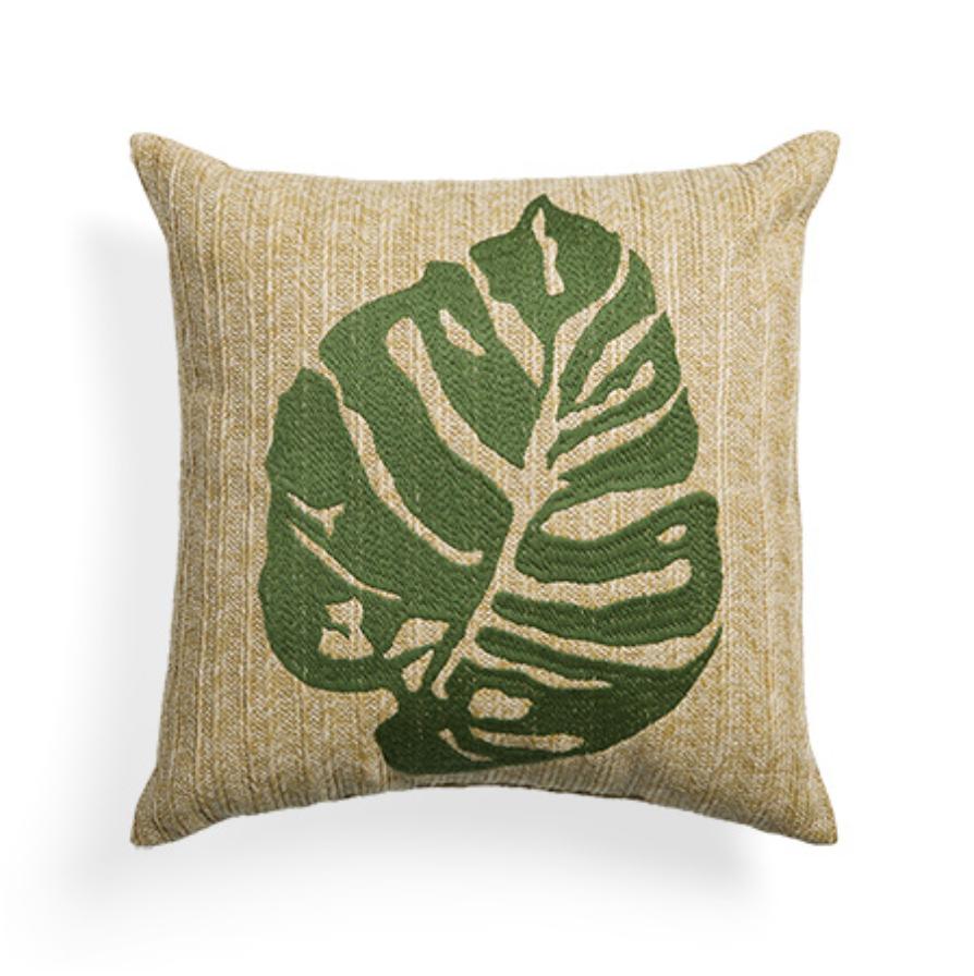 custom print decor green pillow