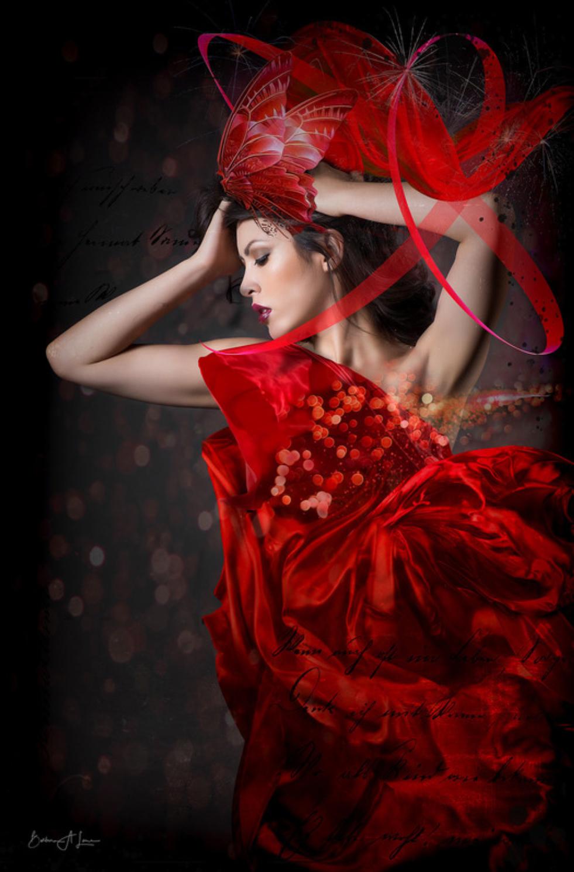 custom print decor red artboja