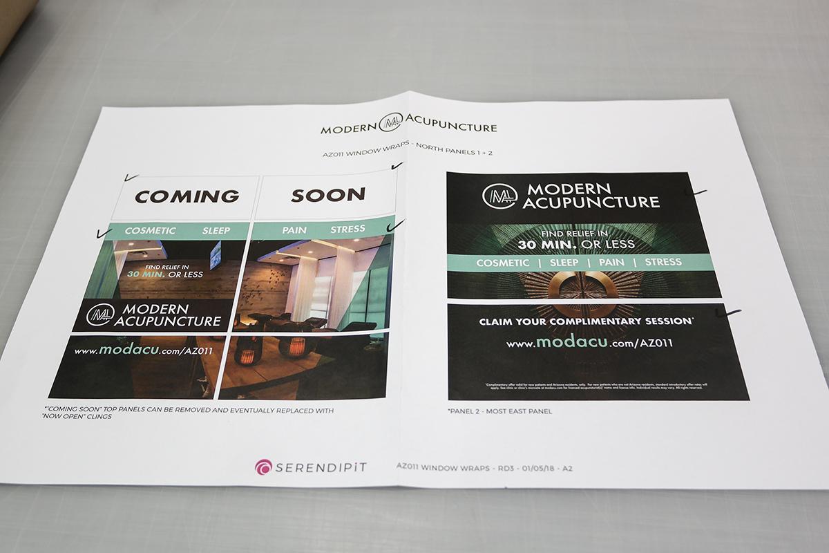 Modern Acupuncture Custom Window Wrap Design