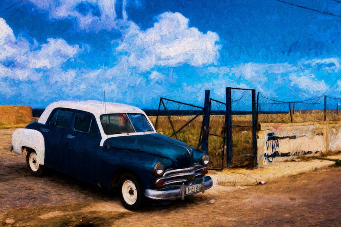 custom print decor blue car artboja