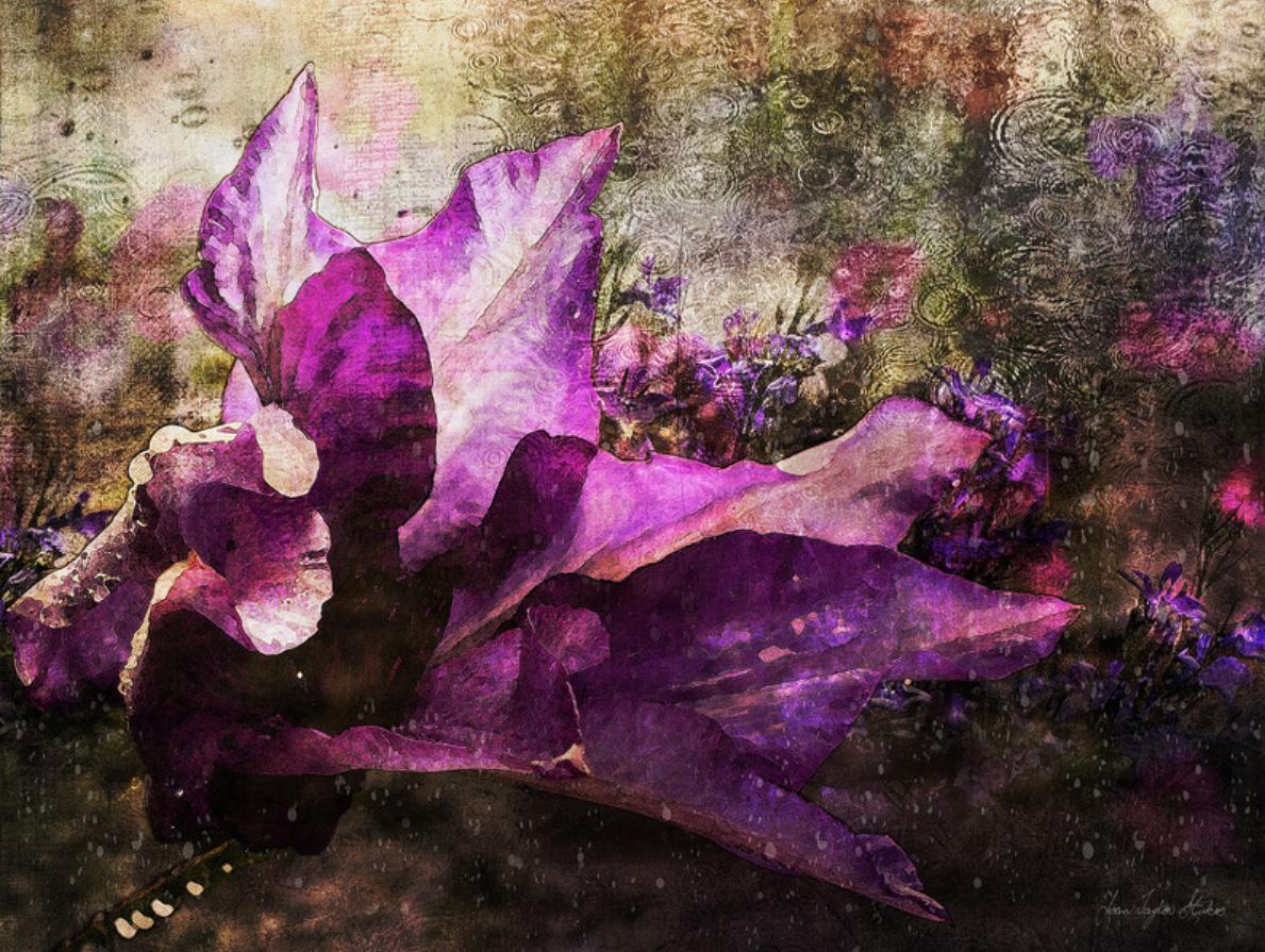 custom print decor purple flower artboja