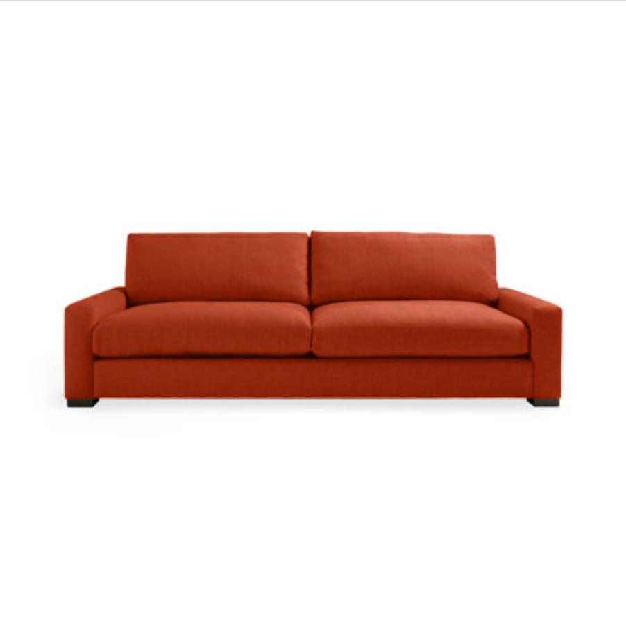 custom print decor red sofa