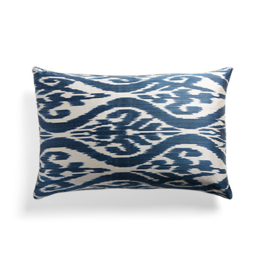custom print decor blue pillow