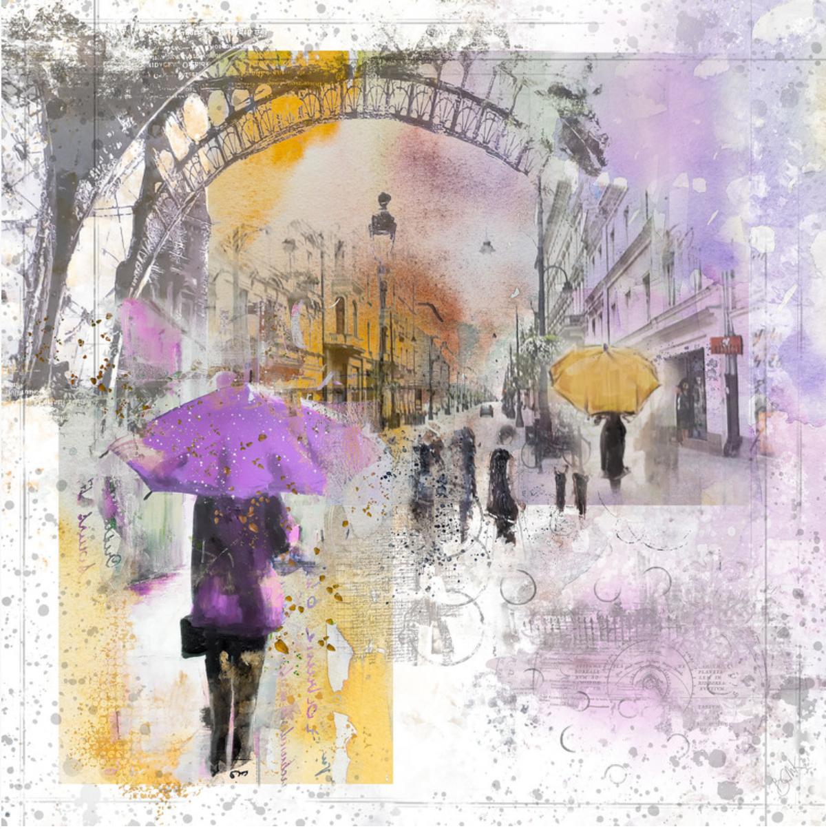 custom print decor purple umbrella artboja