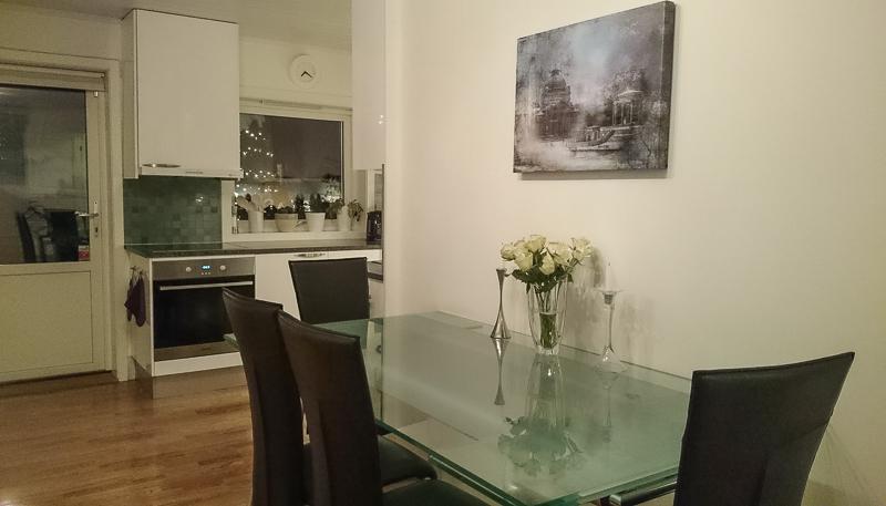 canvas fine art print in kitchen