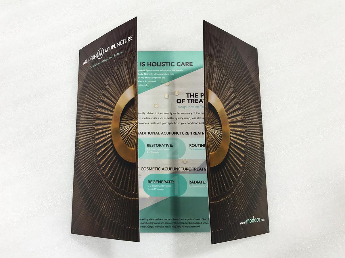 Modern Acupuncture Door Brochure Front
