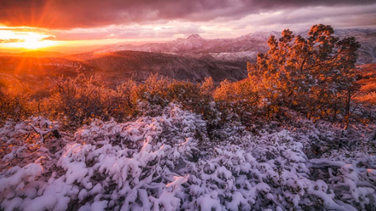Peter Coskun ArtisanHD Print Shop Giveaway Winner Snowy Orange Sunset