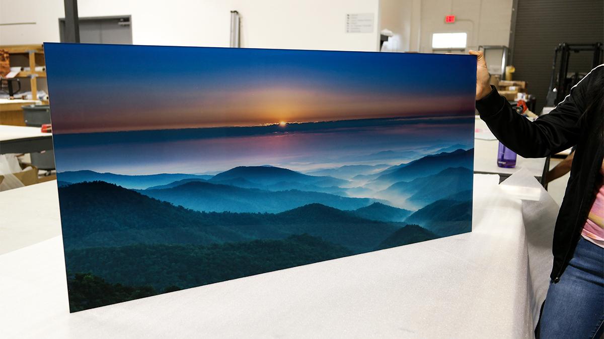 blue mountains acrylic nature photos print artisanhd