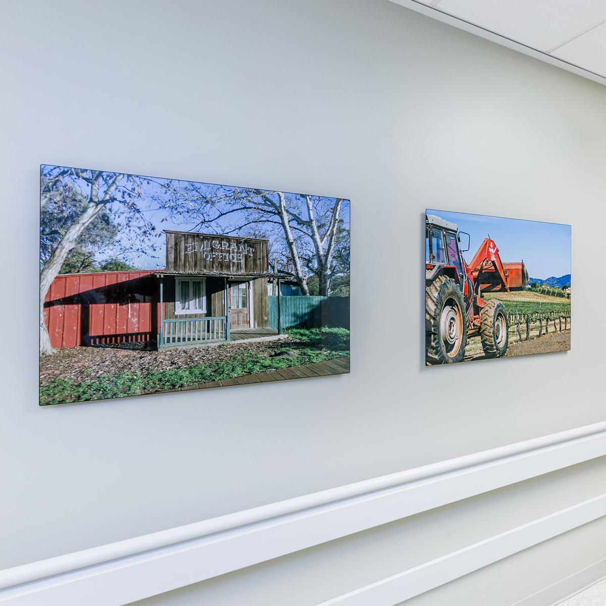 farm tractors ChromaLuxe metal prints artisanhd