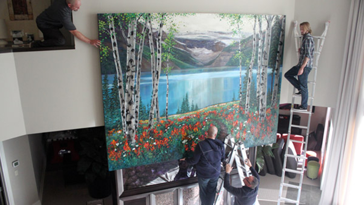 jennifer vranes painting in process professional art prints artisanhd