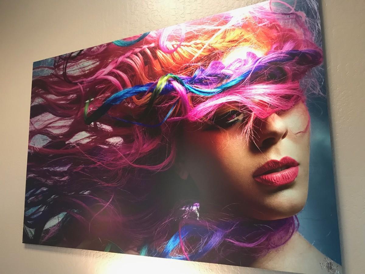 DiBond Color Pop modern metal prints vs canvas blog