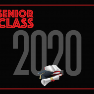 AHD Senior Class 2020 with books cap and diploma photo print graphics