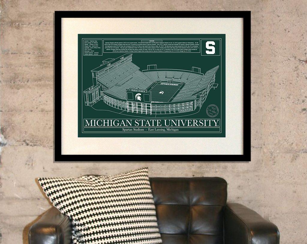 stadium architecural print