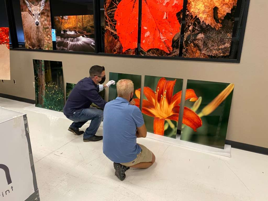 Quality Review Check of ChromaLuxe prints for hotel remodel ArtisanHD web