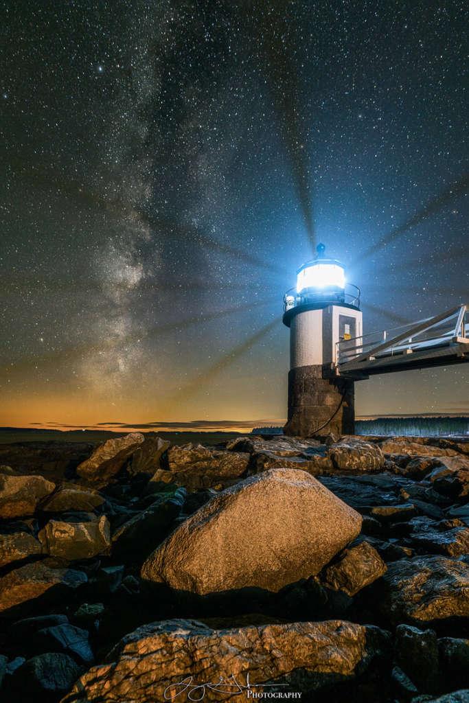 Marshall Point Lighthouse Milky Way